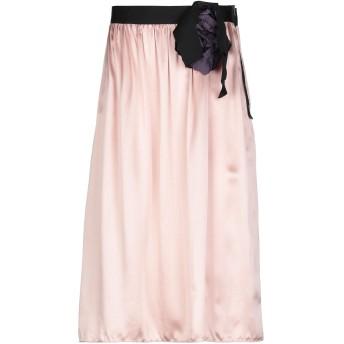 《セール開催中》LANVIN レディース 7分丈スカート ピンク 42 シルク 100% / リネン / キュプラ / レーヨン