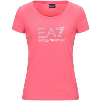《セール開催中》EA7 レディース T シャツ フューシャ S コットン 95% / ポリウレタン 5%