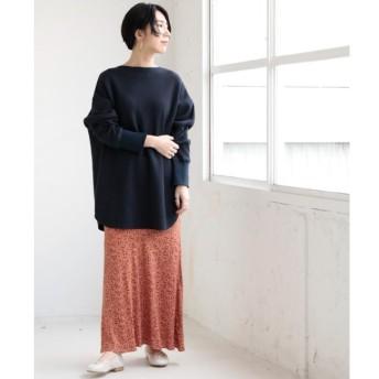 【ミューカ/MJUKA.】 単色プリントセミフレアスカート