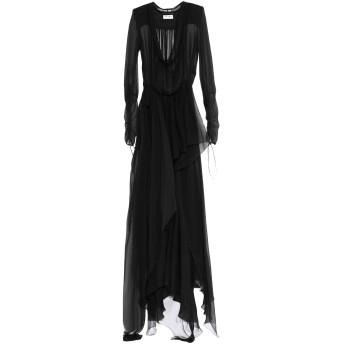 《セール開催中》SAINT LAURENT レディース ミニワンピース&ドレス ブラック 36 シルク 100% / レーヨン