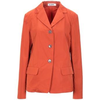《セール開催中》JIL SANDER レディース テーラードジャケット オレンジ 34 ポリエステル 70% / シルク 30%