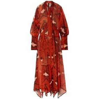 《セール開催中》PETAR PETROV レディース 7分丈ワンピース・ドレス 赤茶色 34 シルク 100% / キュプラ / ポリウレタン
