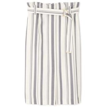 PINKY & DIANNE/ピンキーアンドダイアン ドビーストライプタイトスカート ホワイト1 36