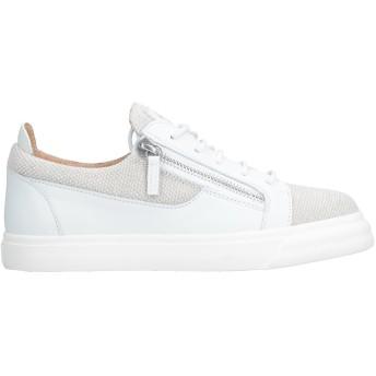 《セール開催中》GIUSEPPE ZANOTTI メンズ スニーカー&テニスシューズ(ローカット) ホワイト 40 革 / 紡績繊維