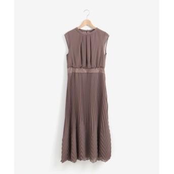 le.coeur blanc / ルクールブラン フロントタックプリーツドレス