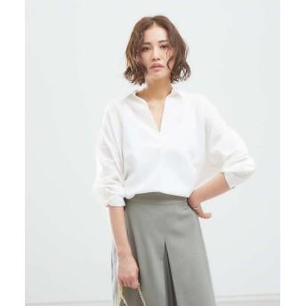 アバハウスマヴィ バックデザインシャンブレーシャツ レディース ホワイト F 【abahouse mavie】