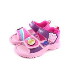 粉紅豬小妹 Peppa Pig 涼鞋 電燈鞋 童鞋 粉紅色 中童 PG4541 no836 15~18cm