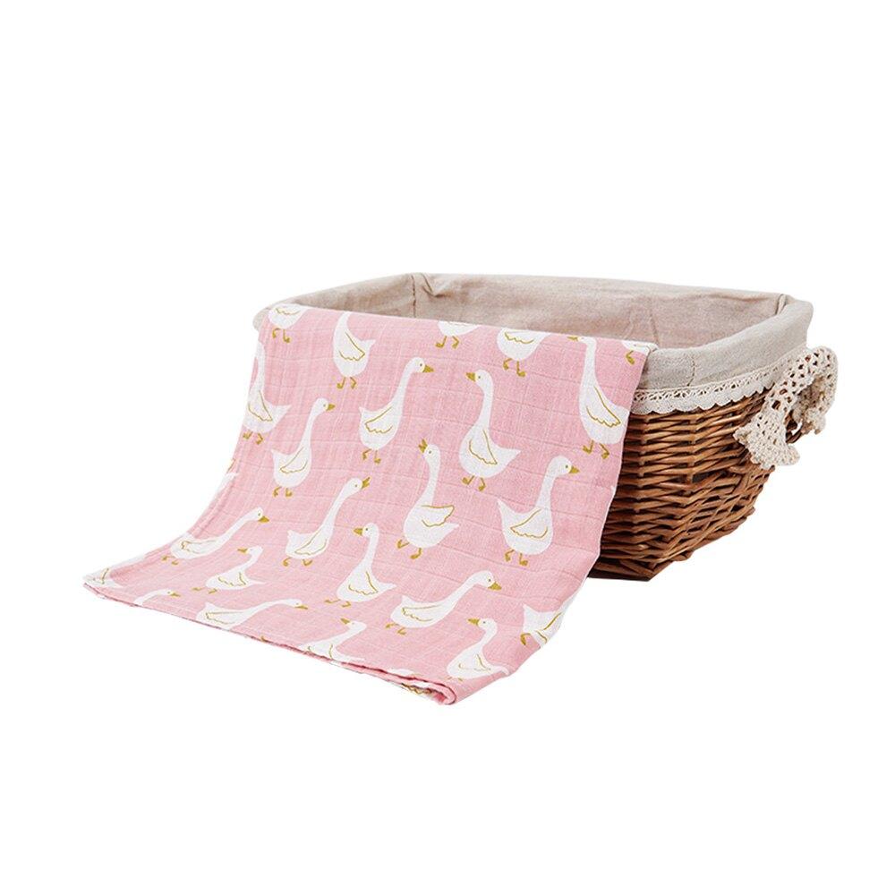 Muslintree雙層動物印花嬰兒紗布包巾蓋被浴巾JoyBaby