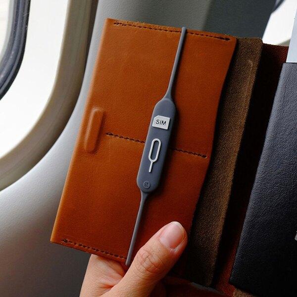 防丟 SIM卡 收納 矽膠套 收納套 取卡針 護照線套 線套 多功能 護照 出國 旅行  『無名』 Q01120
