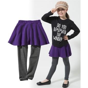 フレアスカッツ(女の子 子供服。ジュニア服)レギンス付スカート (スカート付パンツ) Girls Skirts, 裙子