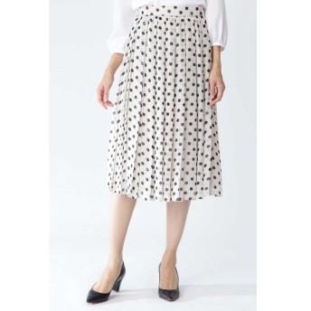 NATURAL BEAUTY / ◆シフォンドットプリントプリーツスカート