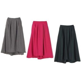 【82%OFF/3色展開】ウール混タックフレアスカート レディースウェア スカート - 選択してください - Gray/S Pink/S Pink/M Green/S au WALLET Market