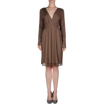 《セール開催中》TWINSET レディース ミニワンピース&ドレス ブラウン XL レーヨン 93% / ポリウレタン 7%