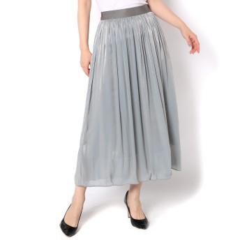 GALLARDAGALANTE(ガリャルダガランテ)/シャンブレーギャザースカート