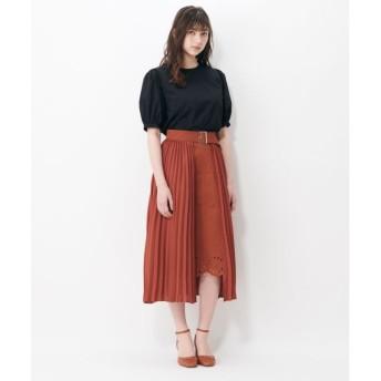 【シュープリームララ/Supreme.La.La.】 プリーツxワークコンビネーションスカート