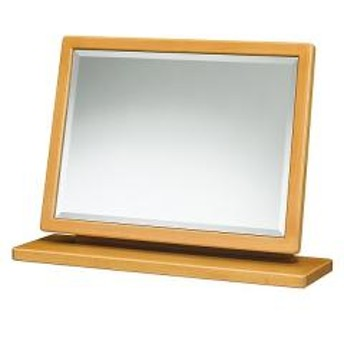 【5%OFFクーポン利用可能】【コード:3MNFGPT】 ミラー 幅60cm 卓上ミラー 角度調整 鏡 木製 フレーム 上置き