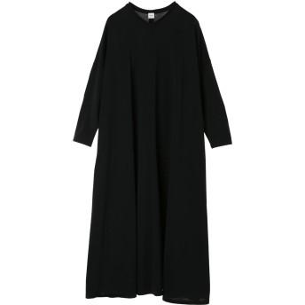 ELIN エリン マントラインジャージードレス Jersey mantle line dress ワンピース,Black