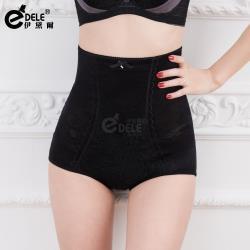 伊黛爾 完美塑型繡花蕾絲彈立中高腰雕塑褲 (M-XXXL,黑色)