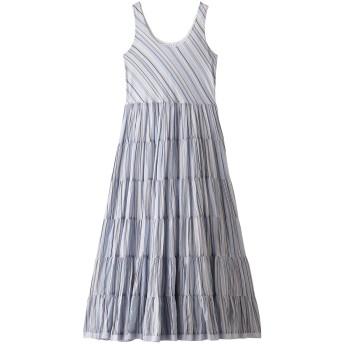 MARIHA マリハ 草原の虹のドレス(ノースリーブ) マルチストライプ/ブルー