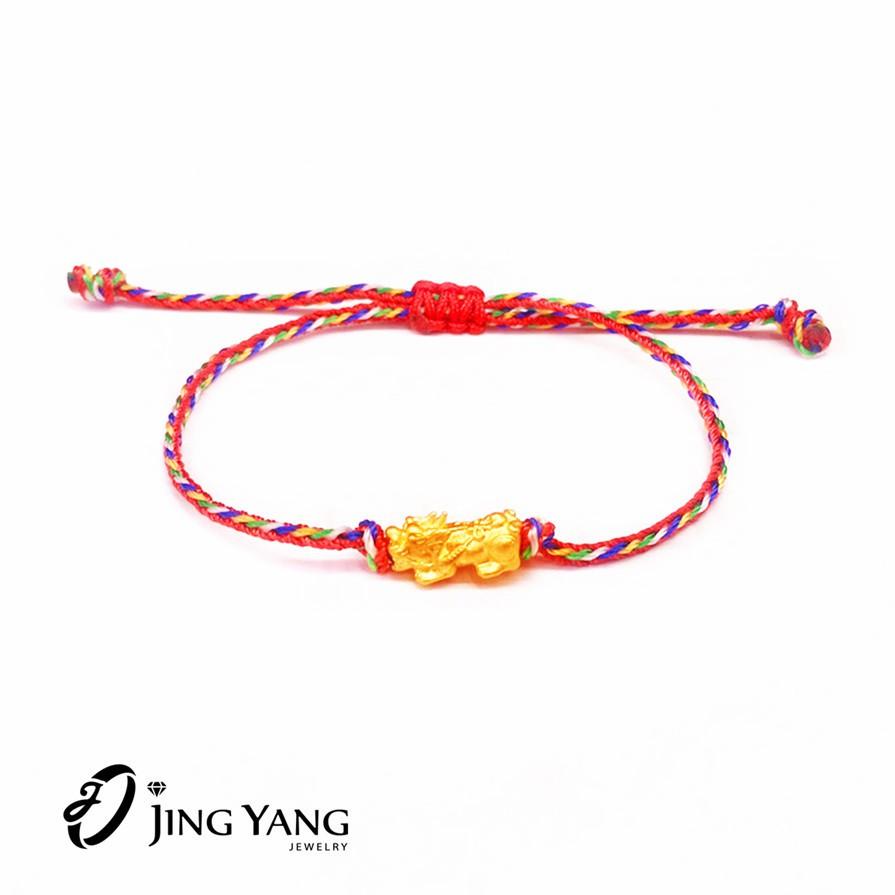 黃金貔貅 開運 招財 保平安+幸運繩 9999純金 晶漾金飾鑽石JingYang Jewelry
