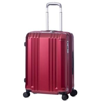 (ASIA LUGGAGE/アジアラゲージ)アジアラゲージ デカかる スーツケース Mサイズ 52L/60L ストッパー付き 軽量 ali-008-22w/ユニセックス レッド