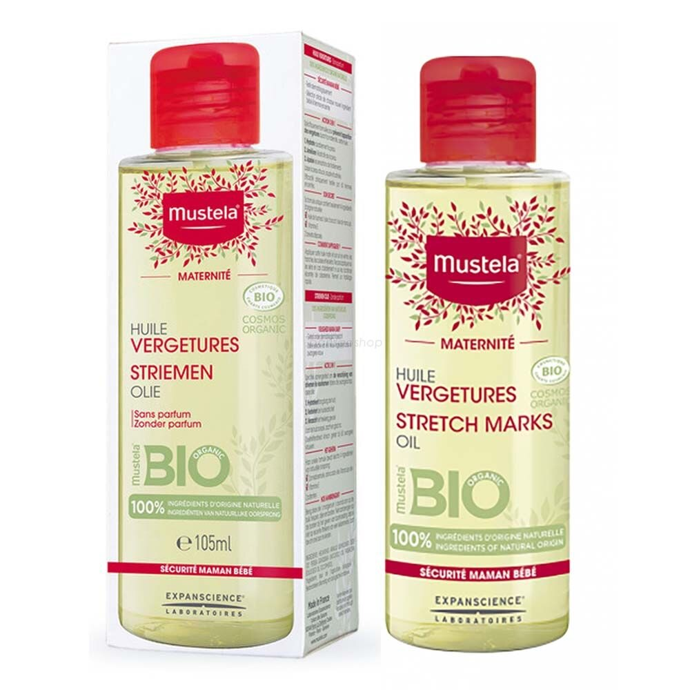 Mustela 慕之恬廊 孕膚油 105ML 2022/07新包裝 有機 產前 產後 哺乳期 皆可使用 姙娠保養