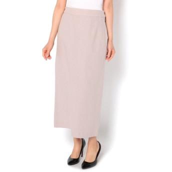 Discoat(ディスコート) レディース 綿麻ナロースカート ライトグレー