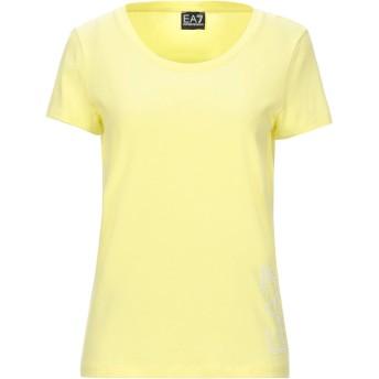 《セール開催中》EA7 レディース T シャツ ビタミングリーン M コットン 95% / ポリウレタン 5%