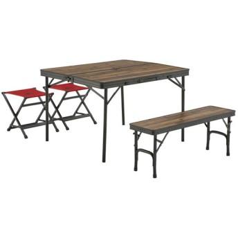 アウトドアテーブル ロゴス Tracksleeper ベンチ&チェアテーブルセット4