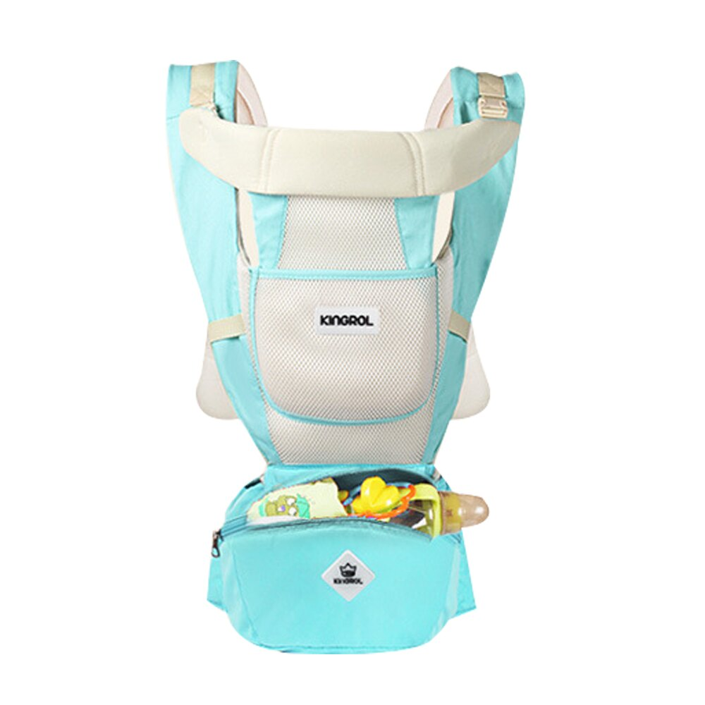 KINGROL/DIGUMI可收納功能 嬰兒雙肩前抱式腰凳揹帶 JoyBaby 618購物節