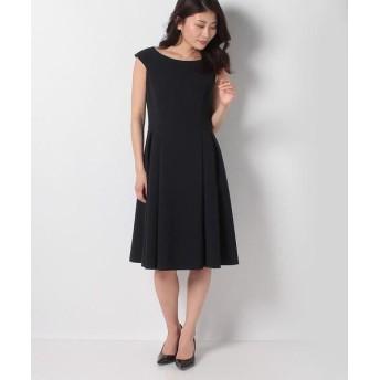 MISS J/ミス ジェイ シルキーストレッチ ドレス ネイビー 40