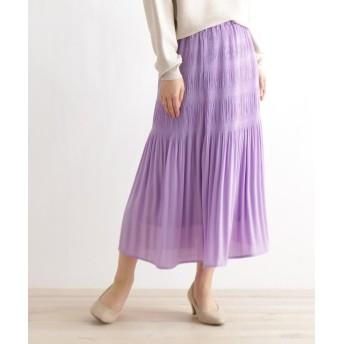 ITS' DEMO(イッツデモ) シャーリングプリーツスカート