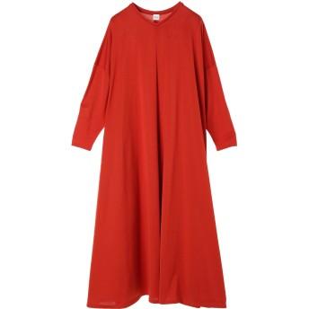ELIN エリン マントラインジャージードレス Jersey mantle line dress ワンピース,Orange