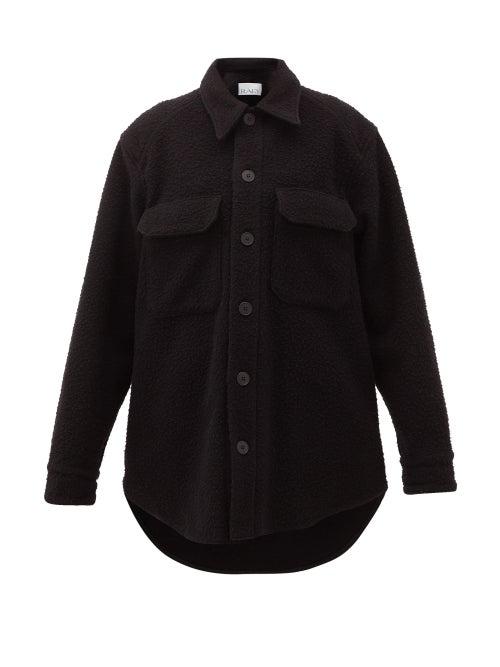 Raey - Oversized Chest-pocket Pilled Wool-blend Shacket - Womens - Black