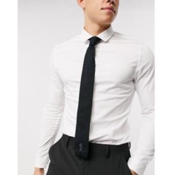 レリジョン Religion メンズ ネクタイ knitted formal tie ブラック