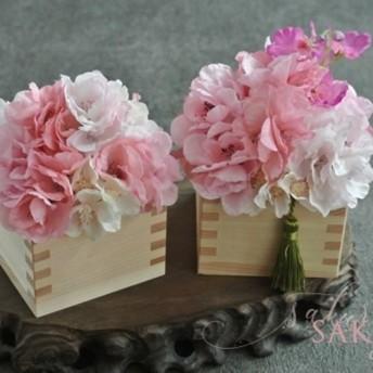 檜の香りと共に 満開の桜アレンジメント
