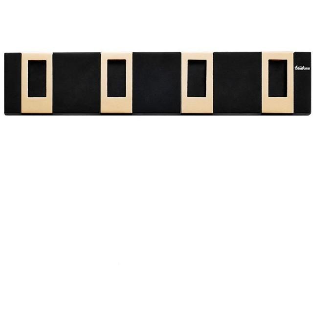 ウォールフック リトラクタブルフックラック省スペースキーの家の装飾のコートのスカーフ帽子財布入り口ベッドルームのバスルームのフックハンガーラック用フックで折りたたみ可能なコートフックを インストールが簡単 (Color : Black, Size : Free size)