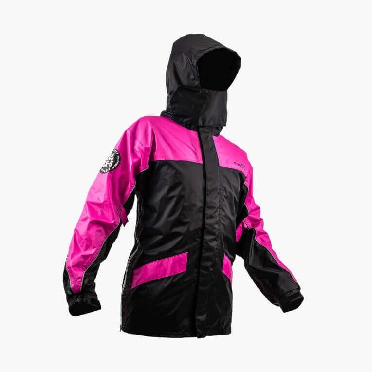 SOL SR-5 / SR5 兩件式雨衣 黑/桃紅 兩截式 兩截式雨衣 褲裝 雙側開《淘帽屋 》
