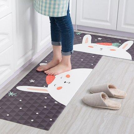廚房地墊 加厚可擦免洗防水吸油防油防滑墊子pvc腳墊長條廚房地毯『CM1355』