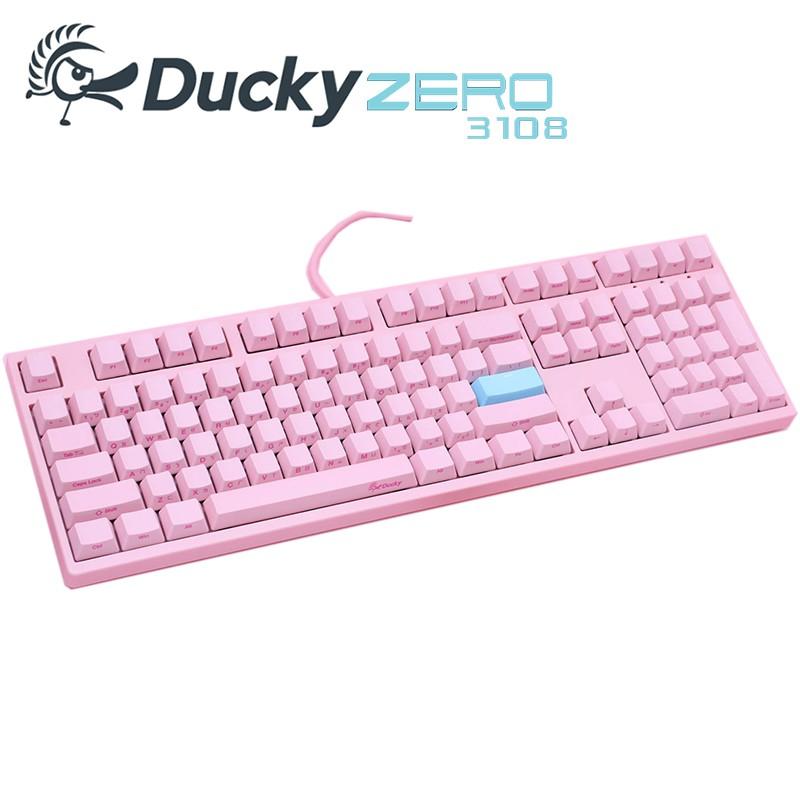 Ducky ZERO 3108 機械式鍵盤-粉紅色 108鍵 側刻 PBT 中文版 紅軸 茶軸 青軸