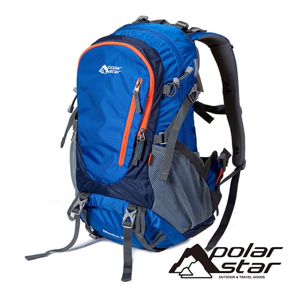 【PolarStar】透氣網架健行背包 35L『深藍』P20803