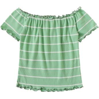 Romwe カットソー tシャツ オフショルダー レディース セクシー トップス ストラップトップ 半袖 薄手 春夏 Mサイズ