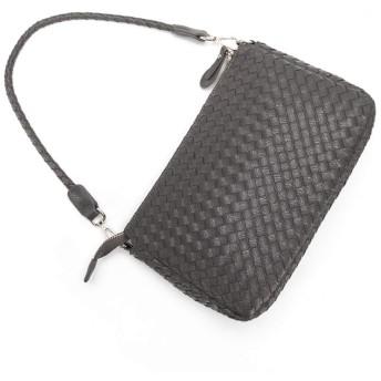 ウィメンズクロスボディバッグPUレザーショルダーバッグウーブンデザインハンドバッグ(スモールバックパック)