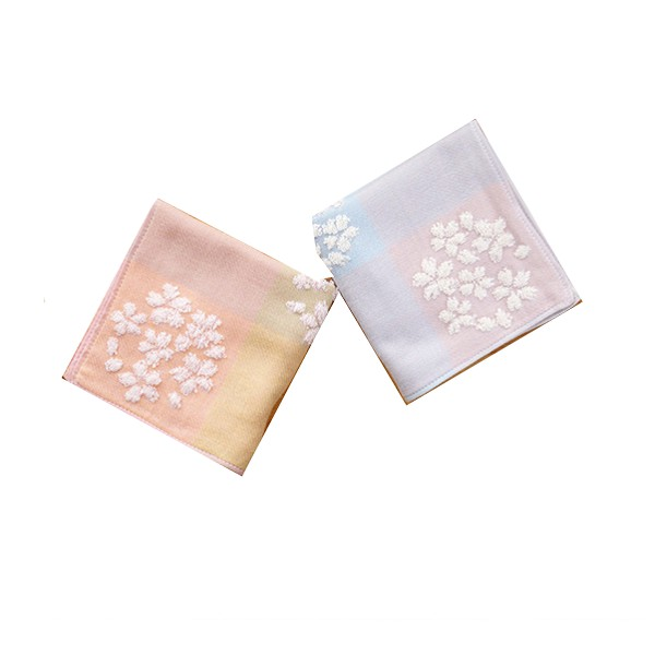 HKIL 日本銷售第一藤高今治認證櫻花系列方巾-2入組