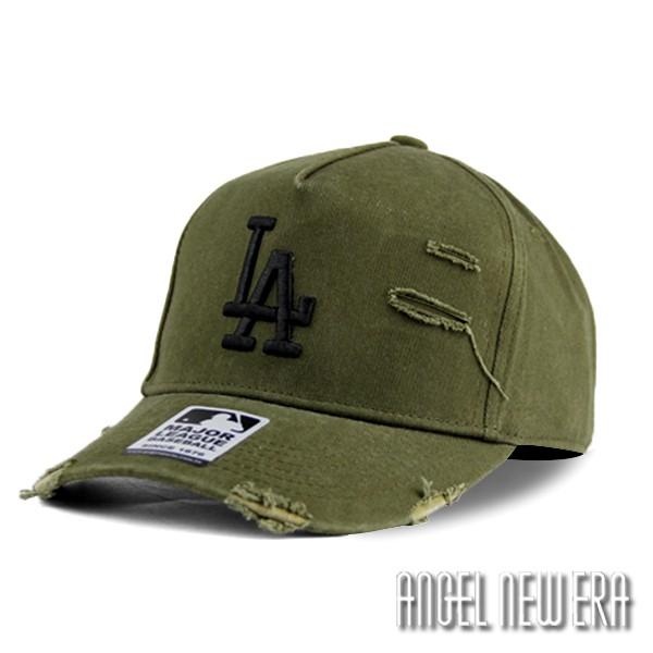 【MLB Old Fashioned Cap】LA 道奇 墨綠色 破壞布 卡車帽 老帽【ANGEL NEW ERA 】