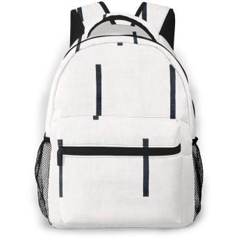 デニムラインホワイトマッドクロス1 両肩パック多机能大容量軽量高校生用ランドセル男女兼用パソコンパックフィットネス登山旅行パック