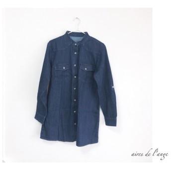 no.458 - jeans remake long denim shirts《M》