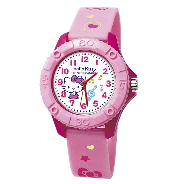 【Sanrio三麗鷗】雙色殼兒童手錶_舞動Kitty