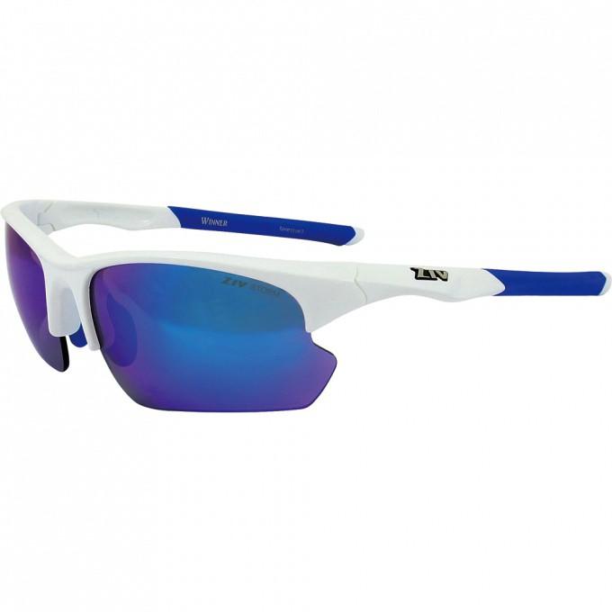ZIV 運動太陽眼鏡 TB105018-1 (白藍) 台灣製 WINNER可換片系列