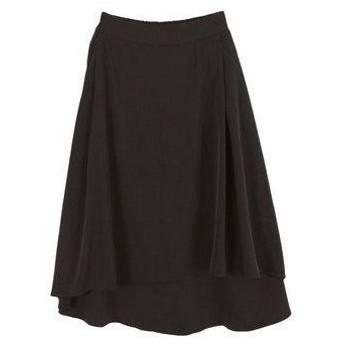 ティティベイト titivate フレアラップスカート (ブラック)